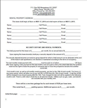 Leasing Information - JEWELMAN LLC, JKL RENTALS, EAST END VILLAGE